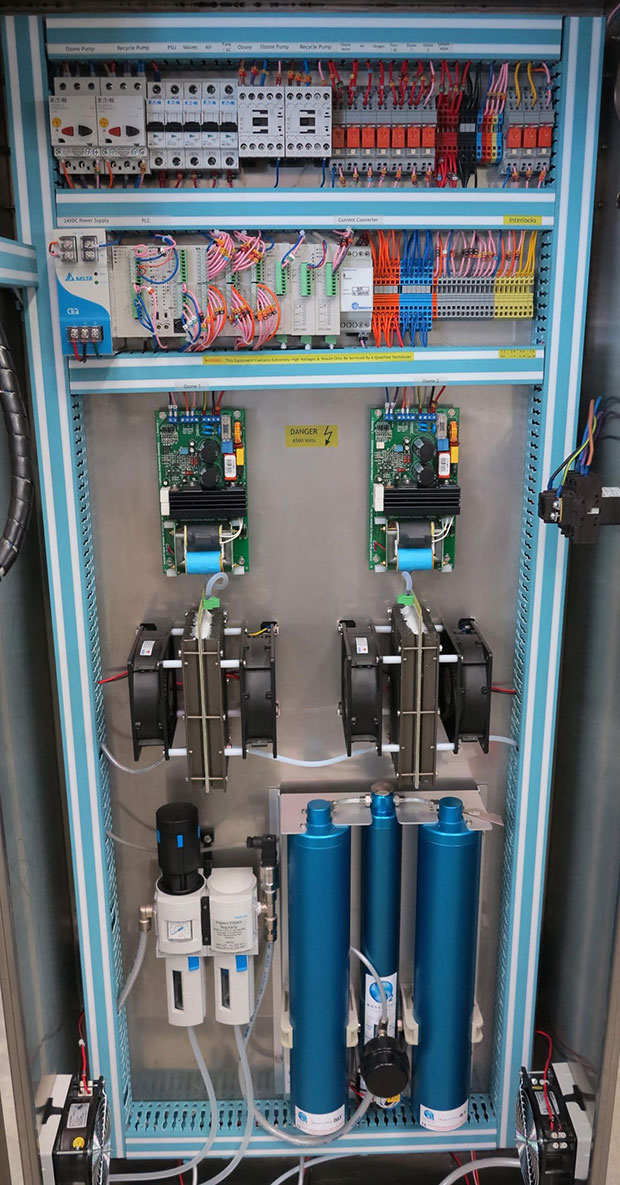 Ozone Generator built to highest standards - Focus on Quality and Reliability. Bright Blue 20G Ozone System - Wine Industry Ozone
