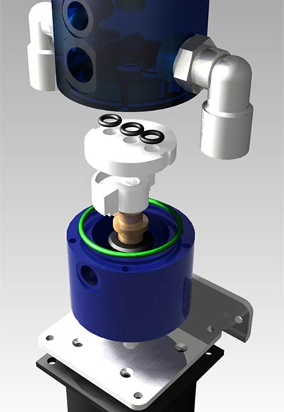 Sophisticated rotary valve distributes compressed air evenly between the sieve columns. Oxygen concentrators